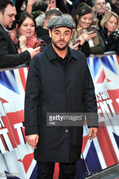 Ant McPartlin attends Britain's Got Talent London auditions at London Palladium on January 28 2018 in London England