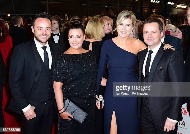 Ant McPartlin Lisa Armstrong Ali Astall and Declan Donnelly arriving at the National Television Awards 2017 held at The O2 Arena London PRESS...