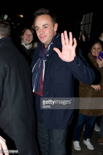 Ant McPartlin seen leaving Britain's Got Talent auditions held at the London Palladium on January 18 2019 in London England