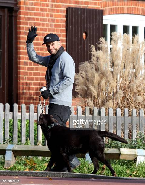 Ant McPartlin seen walking his dog in a west london park on November 10 2017 in London England