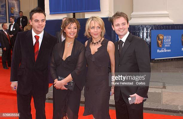 Ant McPortland Lisa Armstrong Claire Buckfield and Declan Donnelly arrive at the Bafta TV Awards