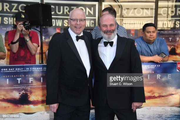 Ant Palmer and David Fairhead attend the World Premiere of 'Spitfire' at The Curzon Mayfair on July 9 2018 in London England