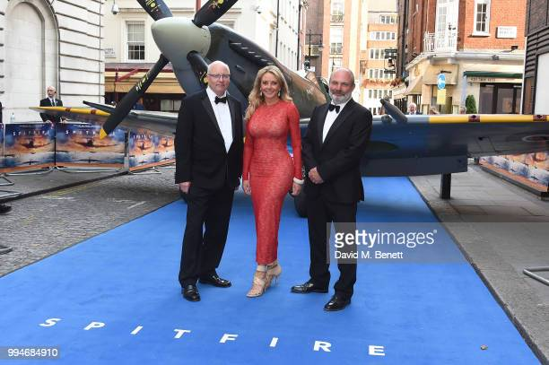 Ant Palmer Carol Vorderman and David Fairhead attend the World Premiere of 'Spitfire' at The Curzon Mayfair on July 9 2018 in London England