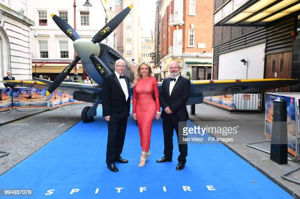 Ant Palmer Carol Vorderman and David Fairhead attending the premiere of Spitfire held at the Curzon Mayfair London