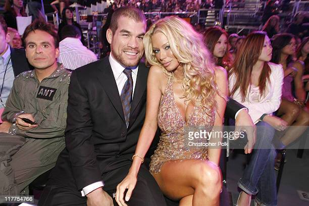 Ant Tito Ortiz and Jenna Jameson during VH1 Big in '06 Backstage and Audience at Sony Studios in Culver City California United States