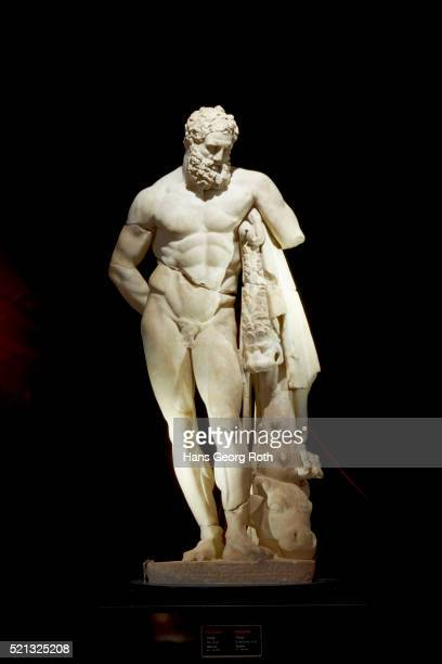 antalya archeological museum, statue of hercules - mythological character stock pictures, royalty-free photos & images