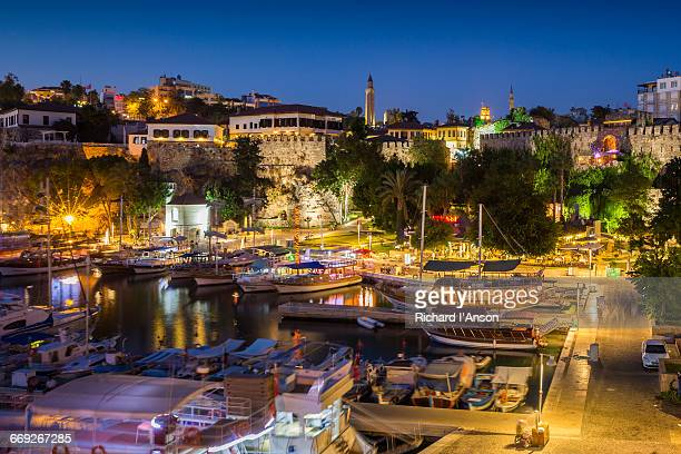 Antalya harbour at dusk