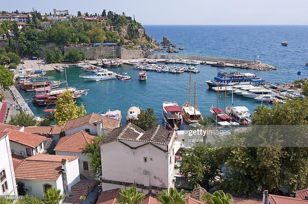 Antalya old marina : Stock Photo