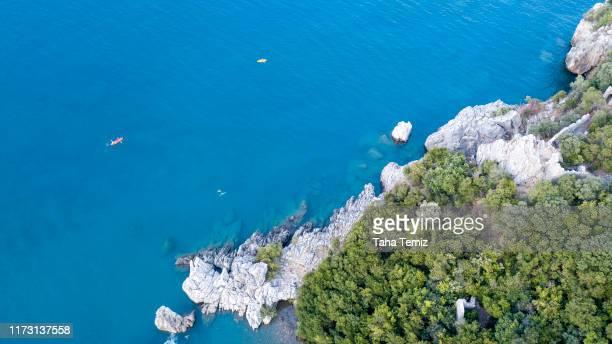antalya olympus mountain drone shooting - baia foto e immagini stock