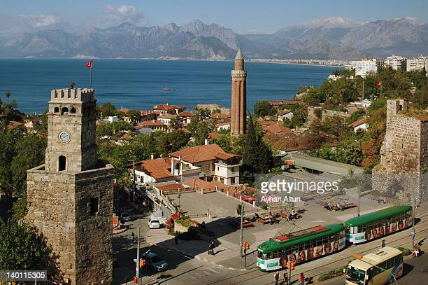antalya - clock tower stock pictures, royalty-free photos & images