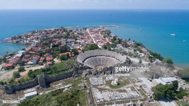antalya side antike stadt - türkei stock-fotos und bilder