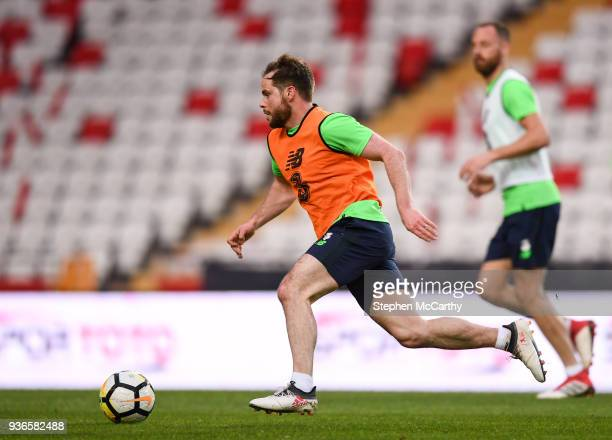 Antalya Turkey 22 March 2018 Alan Judge during a Republic of Ireland training session at Antalya Stadium in Antalya Turkey