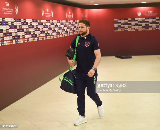 Antalya Turkey 23 March 2018 Alan Judge of Republic of Ireland arrives prior to the International Friendly match between Turkey and Republic of...