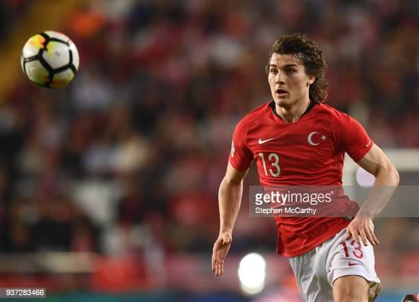 Antalya Turkey 23 March 2018 Çalar Söyüncü of Turkey during the International Friendly match between Turkey and Republic of Ireland at Antalya...