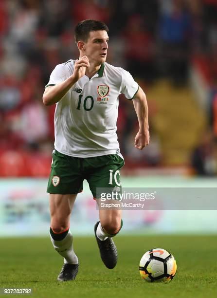Antalya Turkey 23 March 2018 Declan Rice of Republic of Ireland during the International Friendly match between Turkey and Republic of Ireland at...