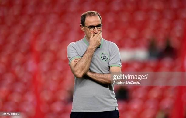 Antalya Turkey 23 March 2018 Republic of Ireland manager Martin O'Neill prior to the International Friendly match between Turkey and Republic of...
