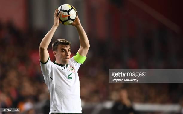Antalya Turkey 23 March 2018 Seamus Coleman of Republic of Ireland during the International Friendly match between Turkey and Republic of Ireland at...