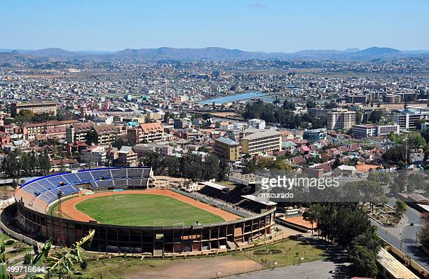 antananarivo, madagascar: from above - antananarivo stock photos and pictures