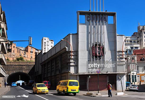 antananarivo, madagascar: rex cinema and tunner - antananarivo stock photos and pictures