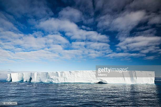 Antarctic Nature Iceberg in South Atlantic Ocean Under Blue Sky