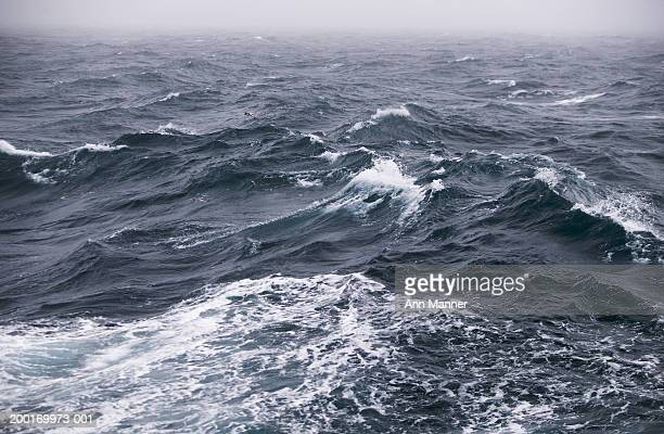 antarctic peninsula, drake passage, rough sea, elevated view - drake passage stock photos and pictures