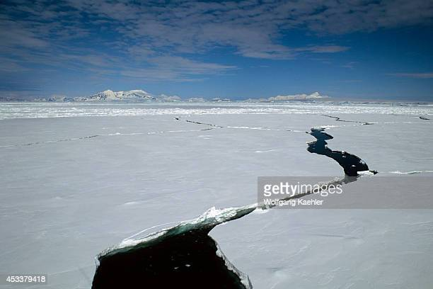 Antarctic Peninsula Near Adelaide Island Lead In Pack Ice