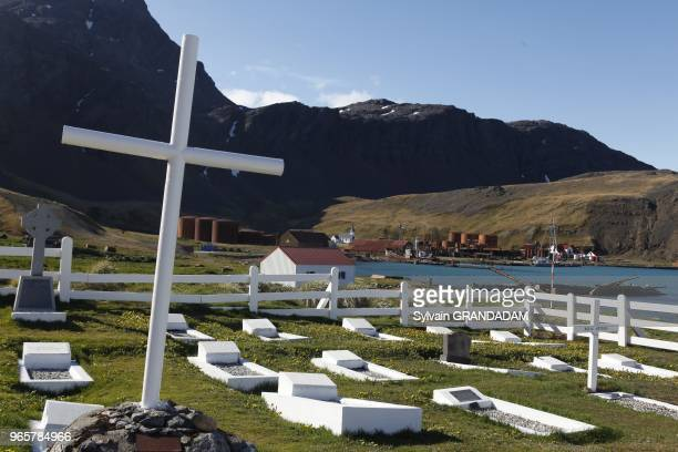 Antarctica cruise on Boreal ship South Georgia island UK property Grytviken whale station founded by Carl Anton Larsen in 1904 abandoned in 1964 and...