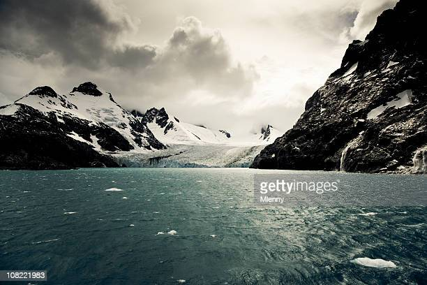 antarctica glacier landscape - south pole stock pictures, royalty-free photos & images