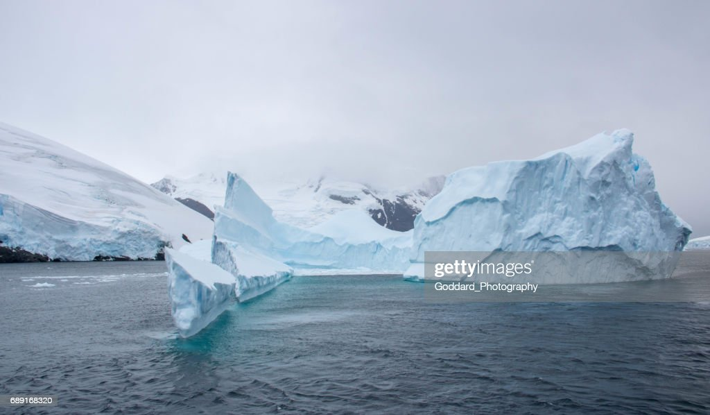 Antarctica: Iceberg in the Lemaire Channel : Stock Photo