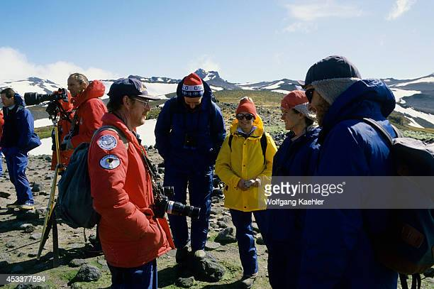 Antarctica King George Island Dr Frank Todd With Researchers
