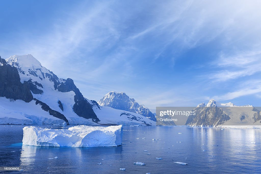 Antarctica Lemaire Channel snowy mountain : Stock Photo