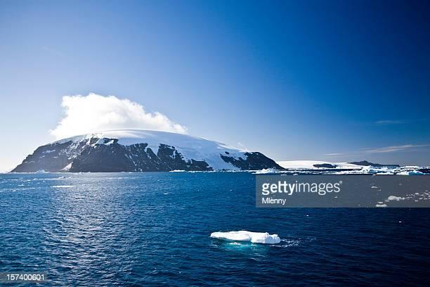 Antarctica Mountain Range with Glacier