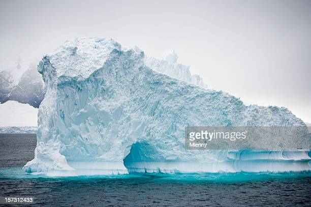 antarctica natural arch - mlenny stock pictures, royalty-free photos & images