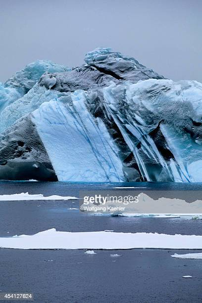 Antarctica, Near South Orkney Island, Marbled Iceberg.