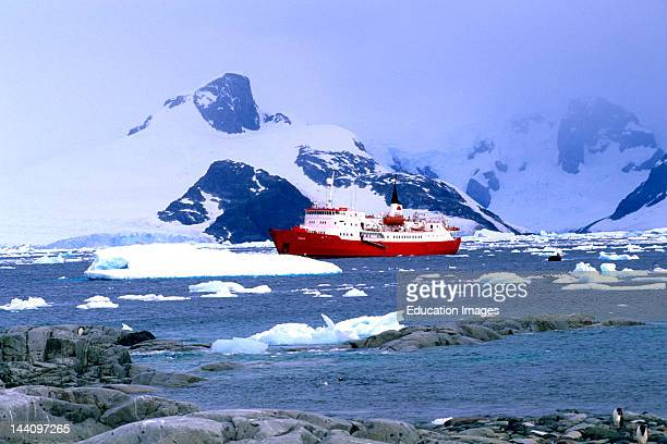 Antarctica Petermann Island Ice Breaker Ship