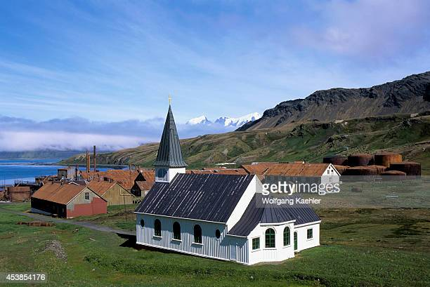 Antarctica South Georgia Grytviken Whaling Station Church