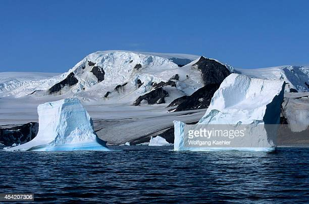 Antarctica, South Orkney Islands, View Of Icebergs And Glaciers.