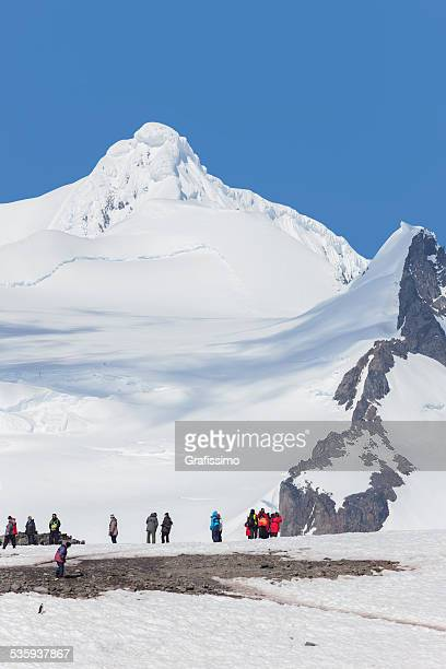 Antarctica tourists on Half Moon Island