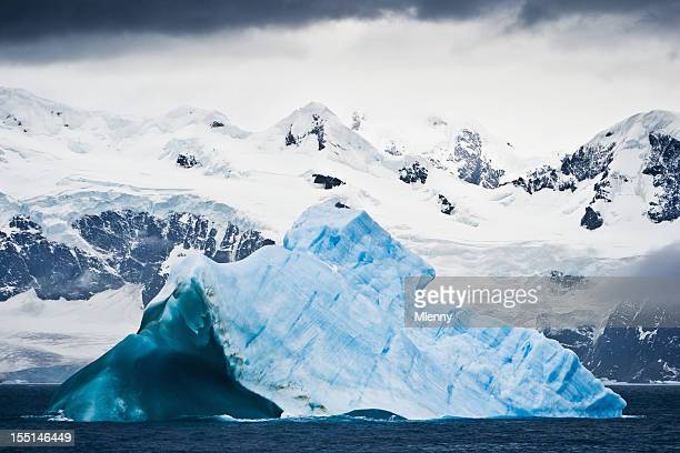 Antarctica Untouched Nature Iceberg and Snowy Mountains South Pole