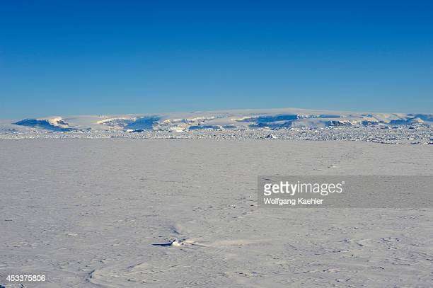 Antarctica Weddell Sea Fast Ice With Snow Hill Island In Background