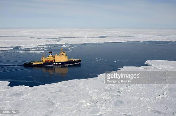 Antarctica Weddell Sea Icebreaker Kapitan Khlebnikov In Pack Ice
