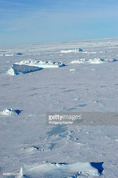 Antarctica Weddell Sea Near Snow Hill Island Aerial View Of Icebergs And Sea Ice