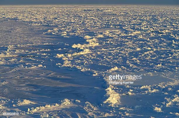 Antarctica Weddell Sea Ridged Sea Ice In Evening Light