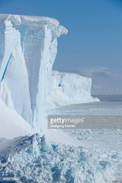Antarctica Weddell Sea Tabular Iceberg And Pack Ice