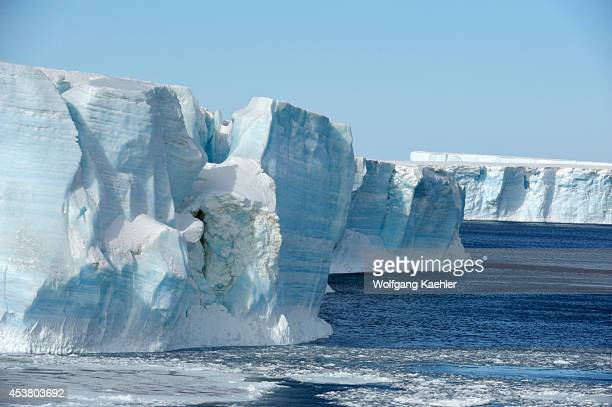 Antarctica Weddell Sea Tabular Iceberg And Pack Ice