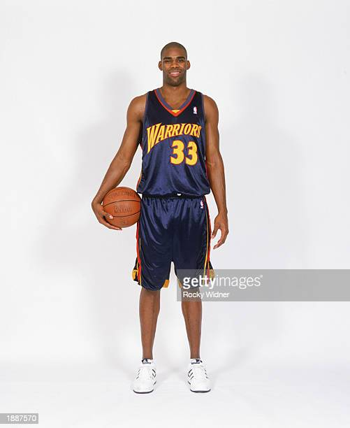 Antawn Jamison of the Golden State Warriors poses for a NBA portrait on March 22 2003 in Oakland California NOTE TO USER User expressly acknowledges...