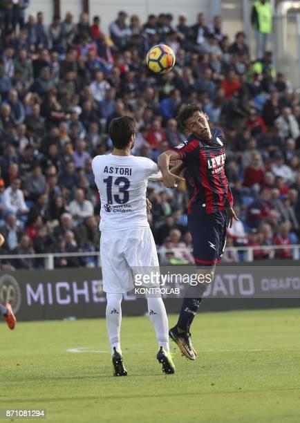Ante Budimir Crotone against Davide Astori Fiorentina during the match Fc Crotone vs ACF Fiorentina of Serie A Crotone won 21