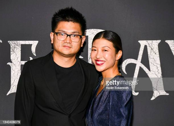 """Ante Cheng and Eunice Jera Lee attend the Los Angeles Premiere of Focus Features' """"Blue Bayou"""" at DGA Theater Complex on September 14, 2021 in Los..."""