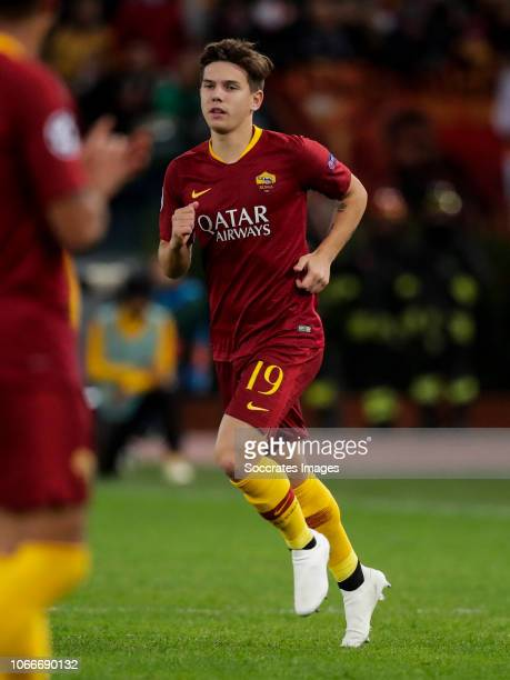 Ante Coric of AS Roma during the UEFA Champions League match between AS Roma v Real Madrid at the Stadio Olimpico Rome on November 27 2018 in Rome...