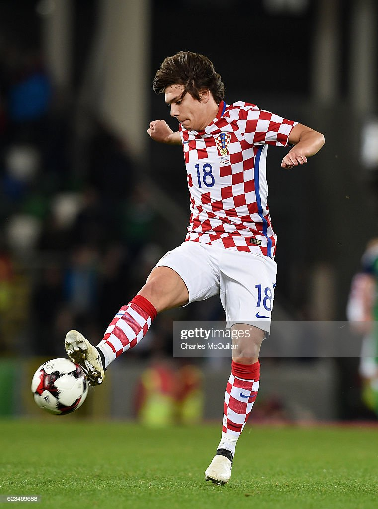 Ante Coric of Croatia during the international friendly fixture between Northern Ireland and Croatia at Windsor Park on November 15, 2016 in Belfast, Northern Ireland.